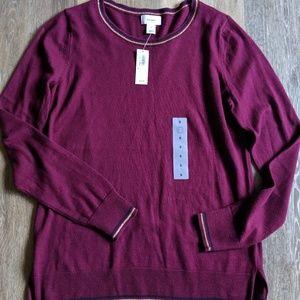 NWT Lightweight Plum Wine Sweater S
